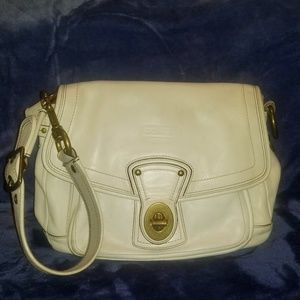 Coach Bags - Coach legacy white leather sholderbag